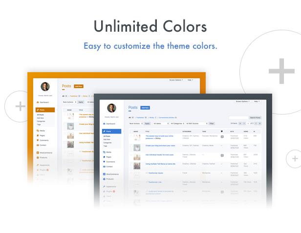 wphave Admin - Um tema limpo e moderno para WordPress Admin - 2