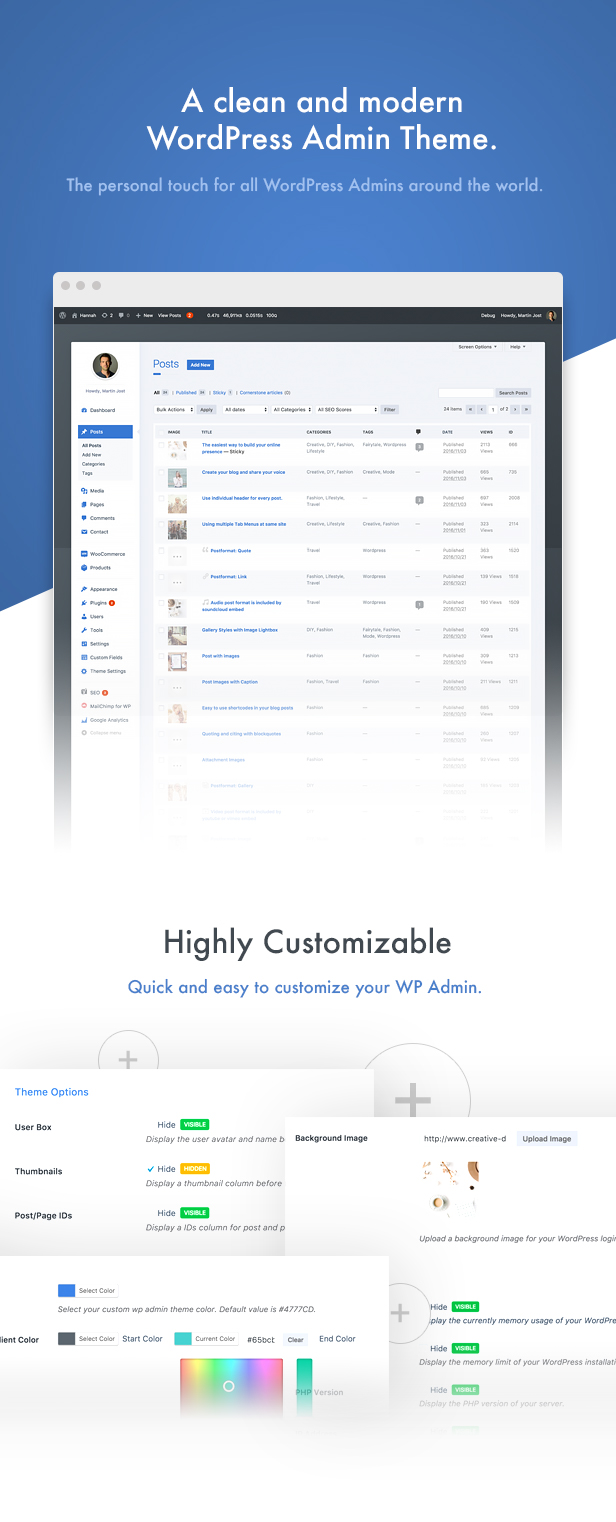 wphave Admin - A clean and modern WordPress Admin Theme - 1