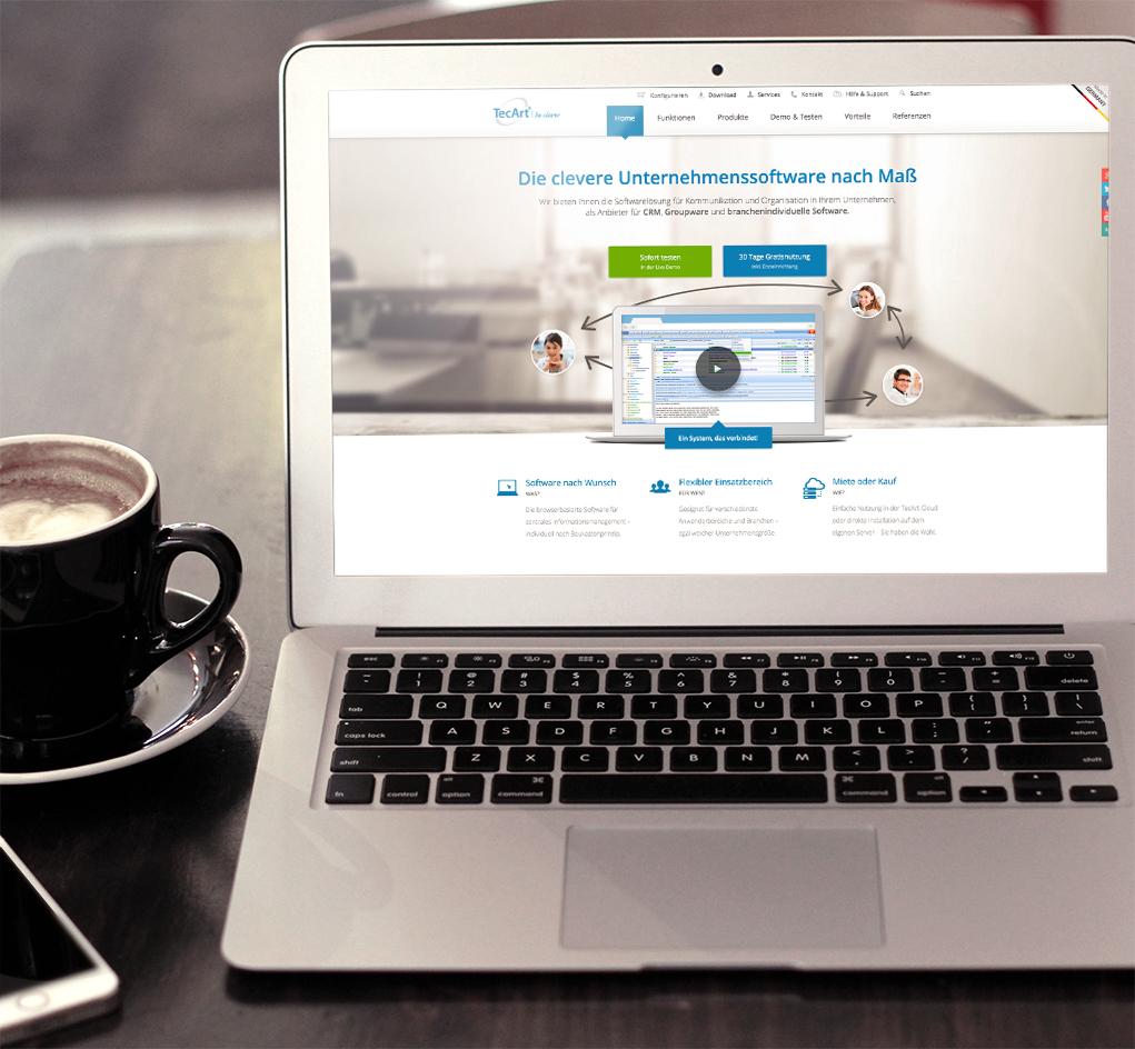 tecart-webseite