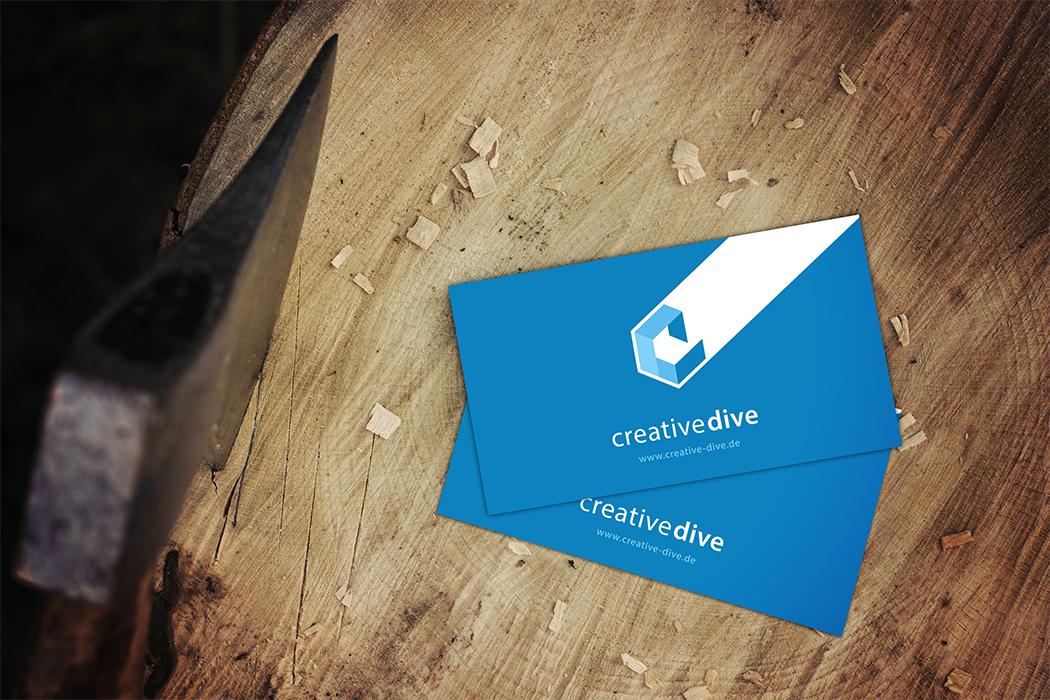 Potential Ihrer Visitenkarte Entdecken Creative Dive